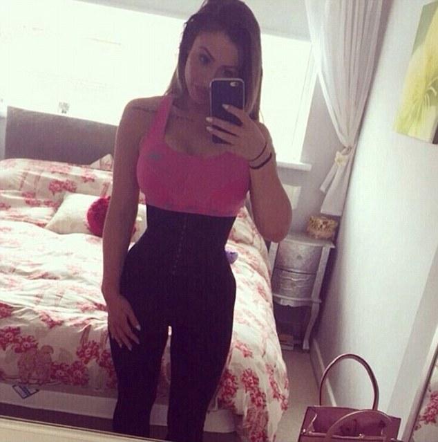 waist cincher selfie of hourglass amazon product